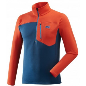 Visuel produit miniature : Millet Techno Stretch Zip Poseidon/Orange
