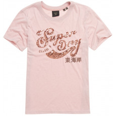 Superdry Script Seguin Tee Shell Pink Marl