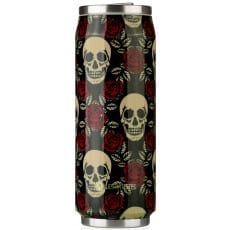 Les Artistes Paris Pull Can'it 500ml Rose & Tête de mort