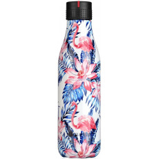 Les Artistes Paris Bottle Up 500ml Palm Leaf and Flamingos