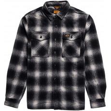 Superdry Wool Miller Overshirt Black Onyx Check