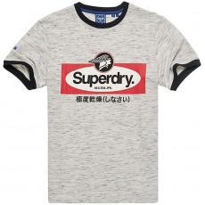 Superdry Cl Ac Ringer Tee Athletic Grey Marl