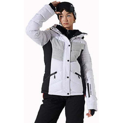 Superdry Snow Luxe Puffer White