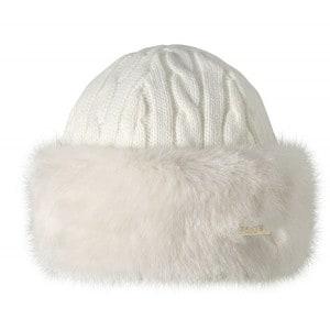 Barts Fur Cable Bandhat Blanc