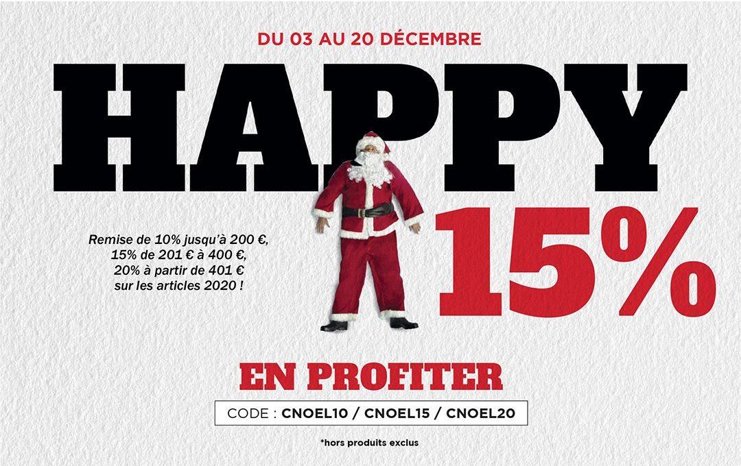 Les promos de Noël, 15% suppl. jusqu'à 400€
