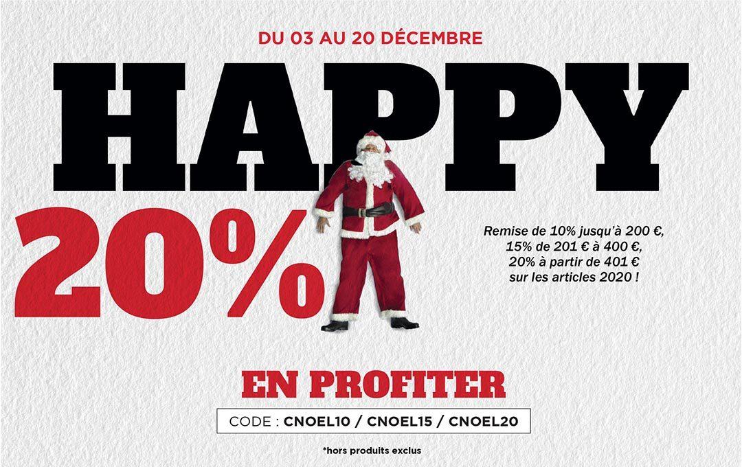 Les promos de Noël, 20% suppl. à partir de 401€