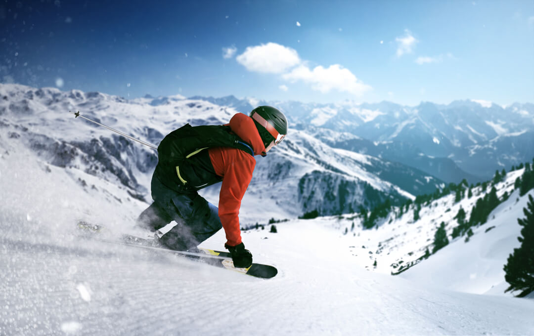 Collection homme 2020: Veste de ski et pantalon.